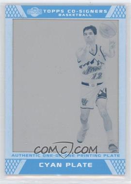 2007-08 Topps Co-Signers - [Base] - Printing Plate Cyan #31 - John Stockton /1