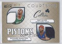 Richard Hamilton, Ray Allen #/75
