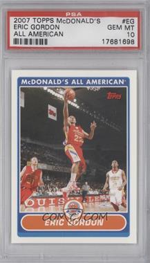 2007-08 Topps McDonald's All American - [Base] #EG - Eric Gordon [PSA10]