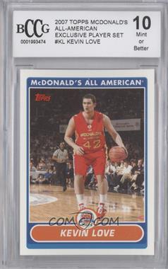 2007-08 Topps McDonald's All American - [Base] #KL - Kevin Love [ENCASED]