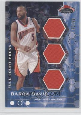 2007-08 Topps Stadium Club - Full Court Press Relics - Triple #FCPTR-BD - Baron Davis /99