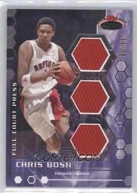2007-08 Topps Stadium Club - Full Court Press Relics - Triple #FCPTR-CBO - Chris Bosh /99
