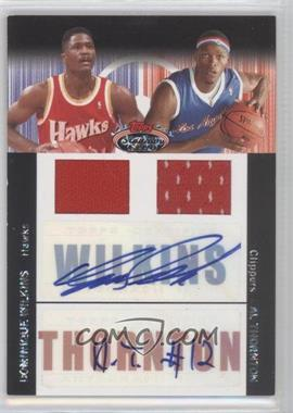 2007-08 Topps Stadium Club - Future/Foundation Dual Autograph Relics - [Autographed] #FFAR-WT - Al Thornton, Dominique Wilkins