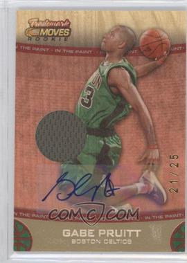 2007-08 Topps Trademark Moves - [Base] - Red Rookie Relics Ink In the Paint [Autographed] #65 - Gabe Pruitt /25