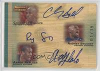 Chauncey Billups, Rodney Stuckey, Arron Afflalo /39
