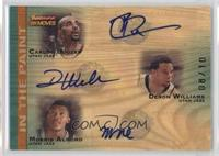 Carlos Boozer, Deron Williams, Morris Almond #/10