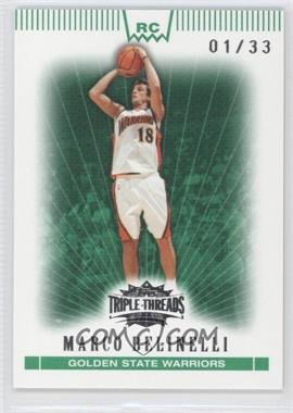 2007-08 Topps Triple Threads - [Base] - Emerald #115 - Marco Belinelli /33