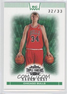 2007-08 Topps Triple Threads - [Base] - Emerald #149 - Aaron Gray /33