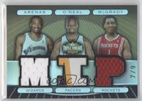 Gilbert Arenas, Jermaine O'Neal, Tracy McGrady #/9