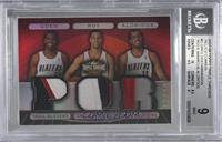 Greg Oden, Brandon Roy, LaMarcus Aldridge /18 [BGS 9 MINT]