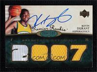 Premier Rookie Autograph Materials - Kevin Durant #/199