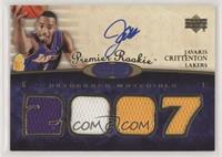 Premier Rookie Autograph Materials - Javaris Crittenton #/199