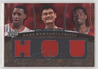 Tracy McGrady, Yao Ming, Aaron Brooks #/99