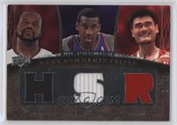 Amare Stoudemire, Shaquille O'Neal, Yao Ming #/99