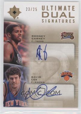 2007-08 Ultimate Collection - Ultimate Dual Signatures - [Autographed] #UD-LC - Rodney Carney, David Lee /25