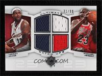 Lebron James, Michael Jordan [Gem Mint] #/99