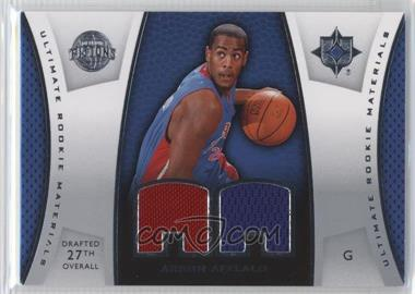 2007-08 Ultimate Collection - Ultimate Rookie Materials #ULTR-AA - Arron Afflalo
