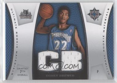 2007-08 Ultimate Collection - Ultimate Rookie Materials #ULTR-CB - Corey Brewer