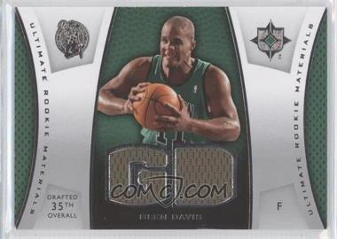 2007-08 Ultimate Collection - Ultimate Rookie Materials #ULTR-GD - Glen Davis