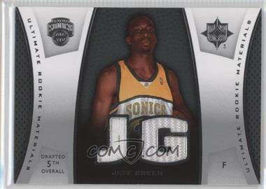 2007-08 Ultimate Collection - Ultimate Rookie Materials #ULTR-JG - Jeff Green