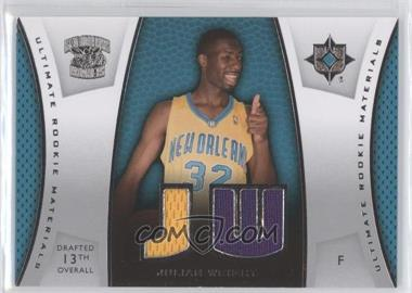 2007-08 Ultimate Collection - Ultimate Rookie Materials #ULTR-JW - Julian Wright