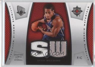 2007-08 Ultimate Collection - Ultimate Rookie Materials #ULTR-SW - Sean Williams