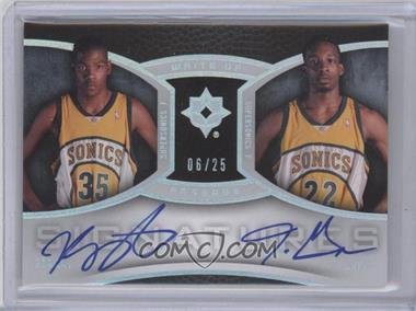 2007-08 Ultimate Collection - Write Of Passage Dual Autographs - [Autographed] #WP-DG - Kevin Durant, Jeff Green /25