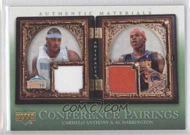 2007-08 Upper Deck Artifacts - Conference Pairings Artifacts - Green #CP-AH - Carmelo Anthony, Al Harrington