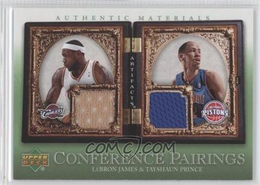 2007-08 Upper Deck Artifacts - Conference Pairings Artifacts - Green #CP-JP - Lebron James, Tayshaun Prince