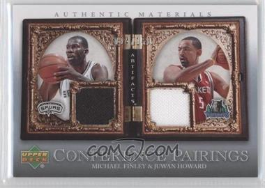 2007-08 Upper Deck Artifacts - Conference Pairings Artifacts #CP-FH - Michael Finley, Juwan Howard /150