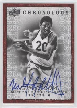 2007-08 Upper Deck Chronology - [Base] - Autographs [Autographed] #70 - Michael Ray Richardson