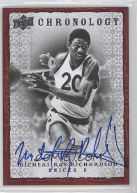 2007-08 Upper Deck Chronology - [Base] - Autographs [Autographed] #70 - Michael Ray Richardson