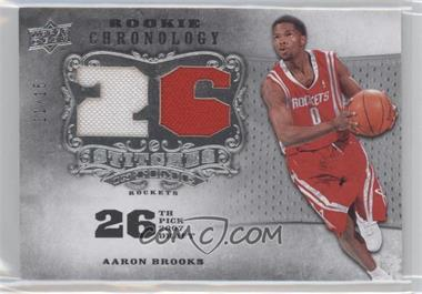 2007-08 Upper Deck Chronology - Stitches in Time Memorabilia - Draft Year Numbers #SIT-AB - Aaron Brooks /15