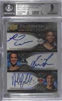 Russell Westbrook, Kevin Love, Danilo Gallinari /199 [BGS 9 MINT]