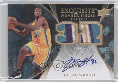 2007-08 Upper Deck Exquisite Collection - Number Pieces #EN-WR - Julian Wright /32