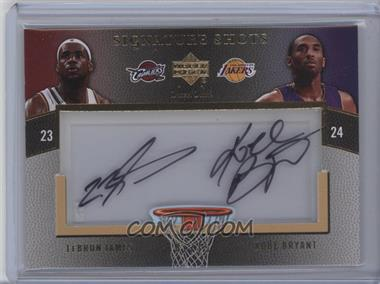 2007-08 Upper Deck Sweet Shot - Signature Shots - Acetate Dual #DA-BJ - LeBron James, Kobe Bryant /15
