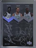 Paul Pierce, Larry Bird, Bill Russell /15