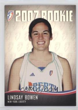 2007 Rittenhouse WNBA - 2007 Rookie #RC27 - Lindsay Bowen /444
