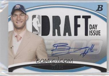 2008-09 Bowman Draft Picks & Stars - Draft Day Issue Relics - Blue Combos Autograph [Autographed] #DDIA-BL - Brook Lopez /50