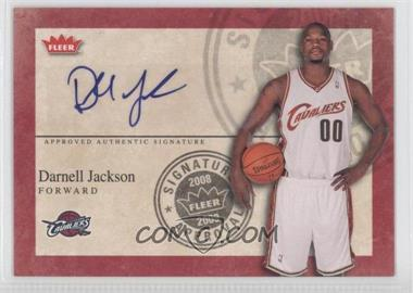 2008-09 Fleer - Signature Approval - [Autographed] #SA-DJ - Darnell Jackson