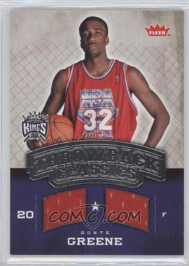 2008-09 Fleer - Throwback Classics Memorabilia #NBA-DG - Donte Greene