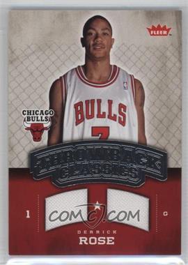 2008-09 Fleer - Throwback Classics Memorabilia #NBA-DR - Derrick Rose