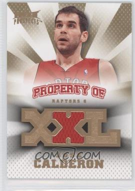 2008-09 Fleer Hot Prospects - Property Of Materials #PO-N/A - Jose Calderon /199