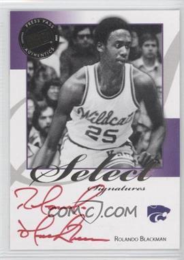 2008-09 Press Pass Legends - Select Signatures #SS-RB.2 - Rolando Blackman (Red Ink)