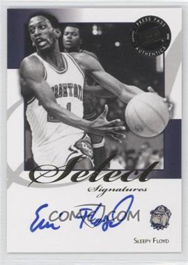 2008-09 Press Pass Legends - Select Signatures #SS-SF.1 - Sleepy Floyd (Blue Ink)