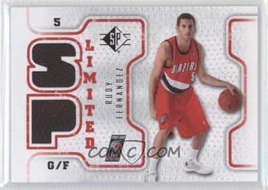 2008-09 SP - Retail Limited #SPL-RF - Rudy Fernandez