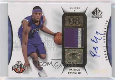 2008-09 SP Authentic - [Base] #112 - Patrick Ewing Jr. /499
