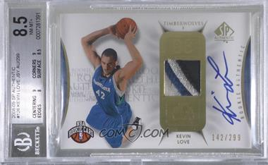 2008-09 SP Authentic - [Base] #126 - Kevin Love /299 [BGS8.5NM‑MT+]