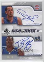 Tayshaun Prince, Dwight Howard /50