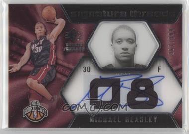 2008-09 SP Rookie Threads - [Base] #96 - Michael Beasley /399